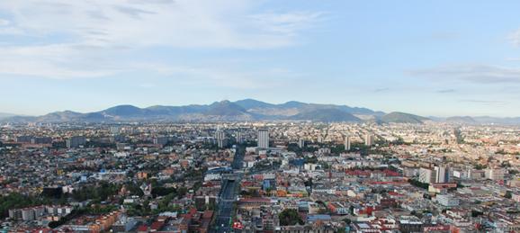 Blue sky over Mexico City