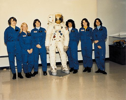 Maybe some firsts are still worth mentioning: NASA's first class of female astronauts. Public Domain per NASA policy, retrieved from Wikimedia Commons.