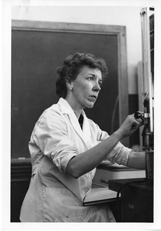 The description for this picture is careful to mention that Mary Alice McWhinnie was the first woman to serve as chief scientist at an Arctic research station. Retrieved from Wikimedia commons, presumed to be public domain. Originally uploaded by the Smithsonian Institution.