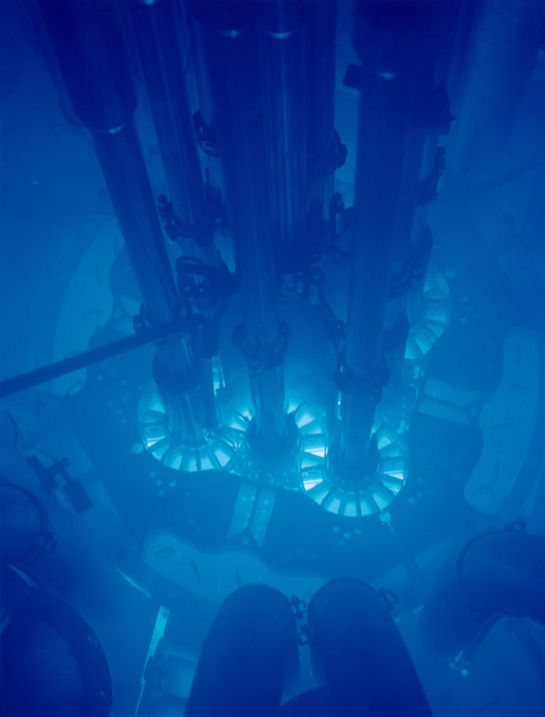 Cherenkov radiation in Idaho National Laboratory's Advanced Test Reactor. © Argonne National Laboratory, 2009 (CC BY-SA 2.0)