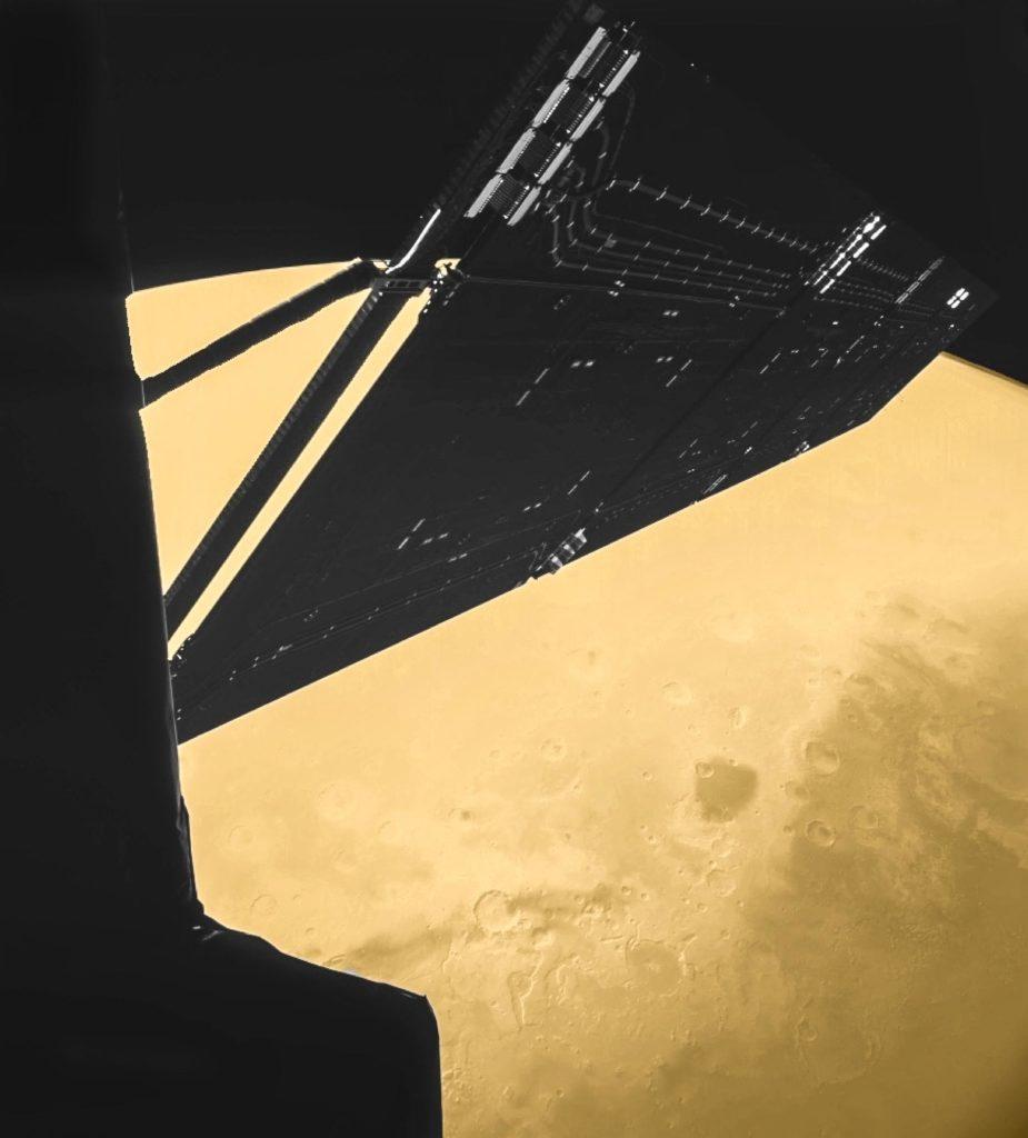 Self-portrait of Rosetta during Mars flyby